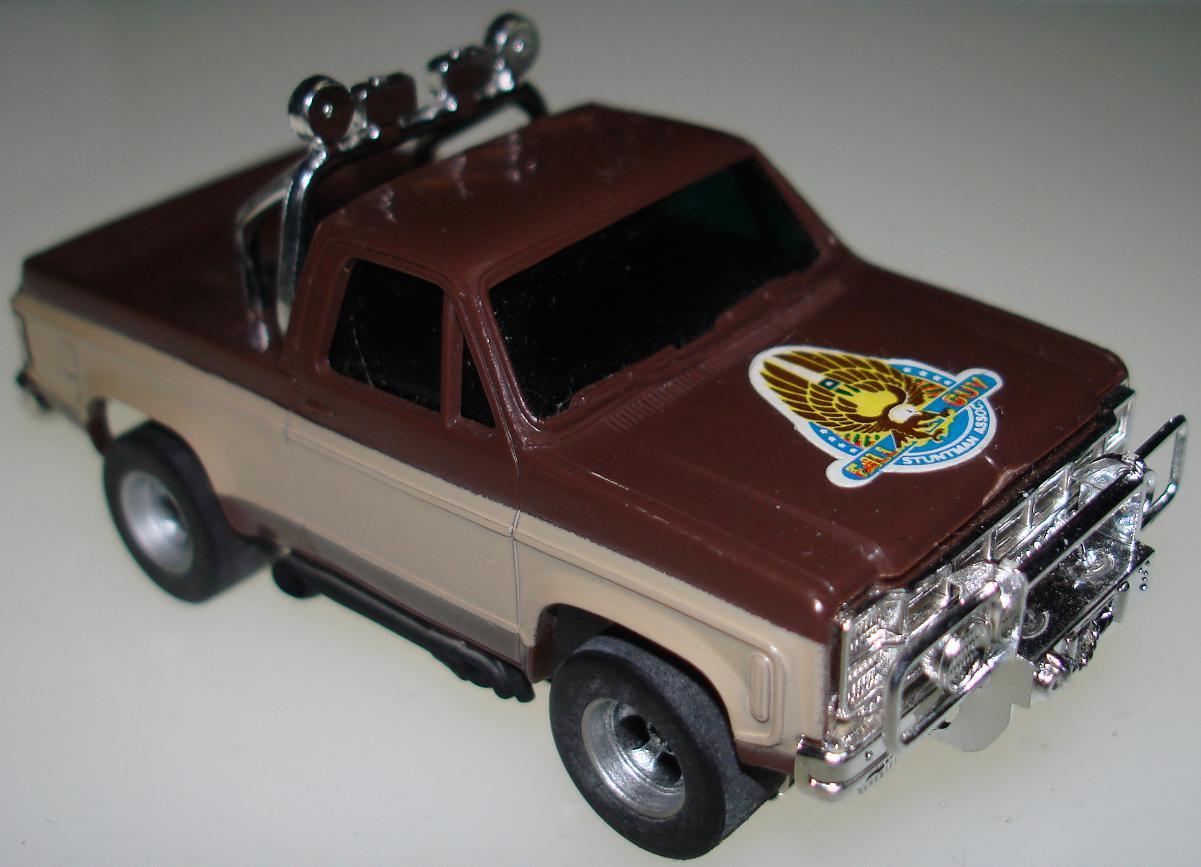 majors colt seavers gmc afx slotcar ho pickup truck fall guy tv show. Black Bedroom Furniture Sets. Home Design Ideas